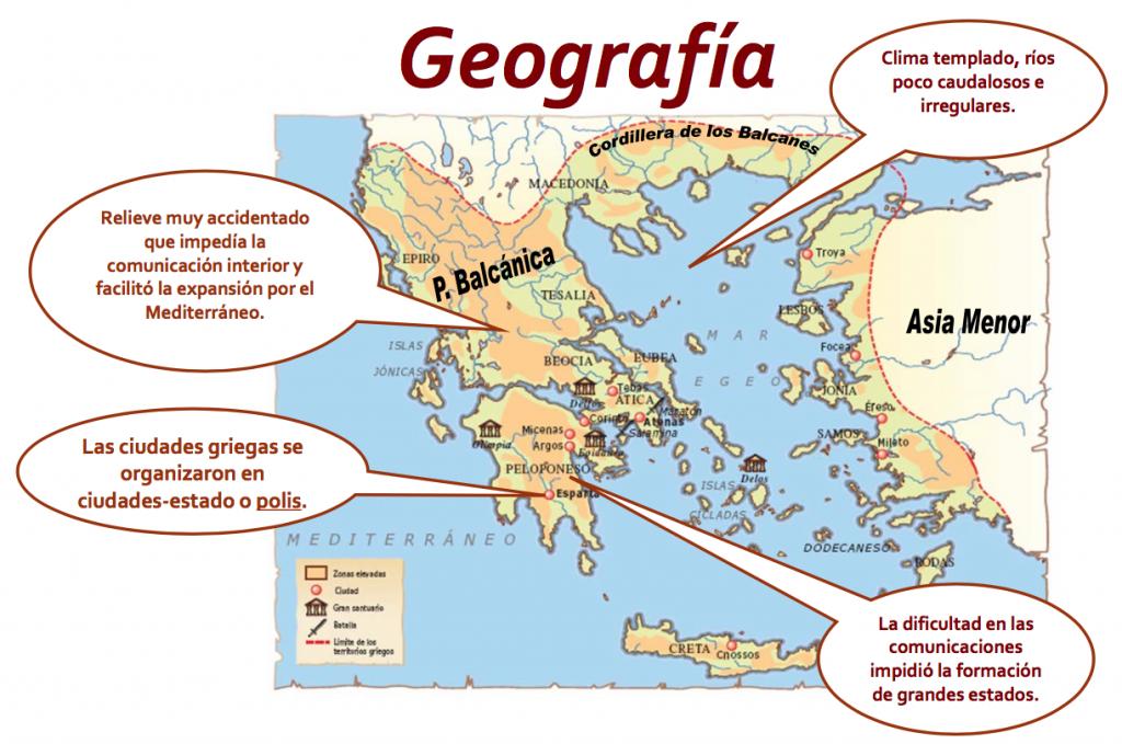 Geografía de la Grecia antigua