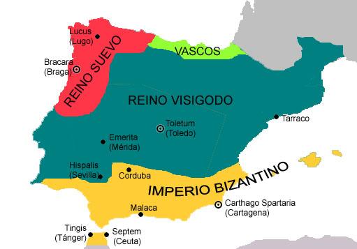 Los visigodos en el siglo VI