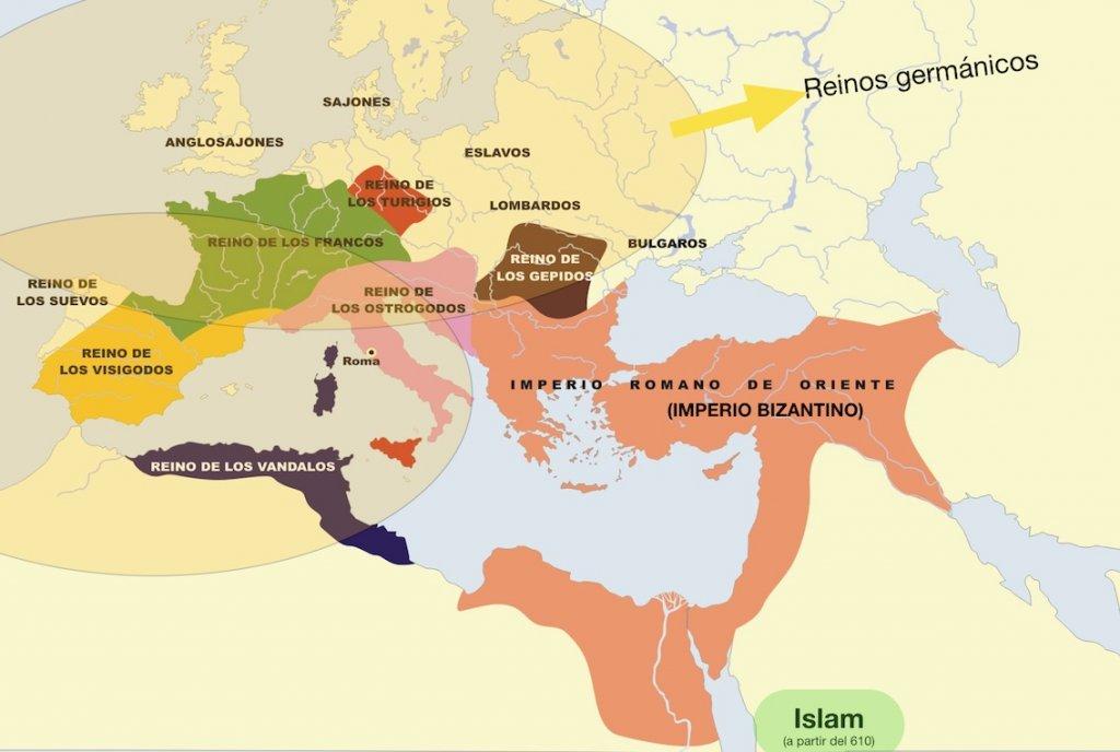 Mapa invasiones bárbaras