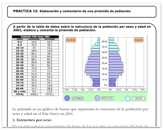 Comentario pirámides población