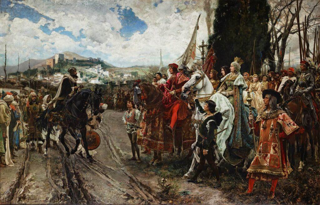 La rendición de Granada. Cuadro de Francisco Padrilla